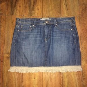Adorable denim skirt